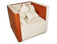 Sofá-cama de cuero