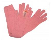 Guantes de lana rosa