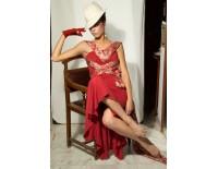 """Vestido """"El clásico de Charo"""" rojo con tela Fuego"""